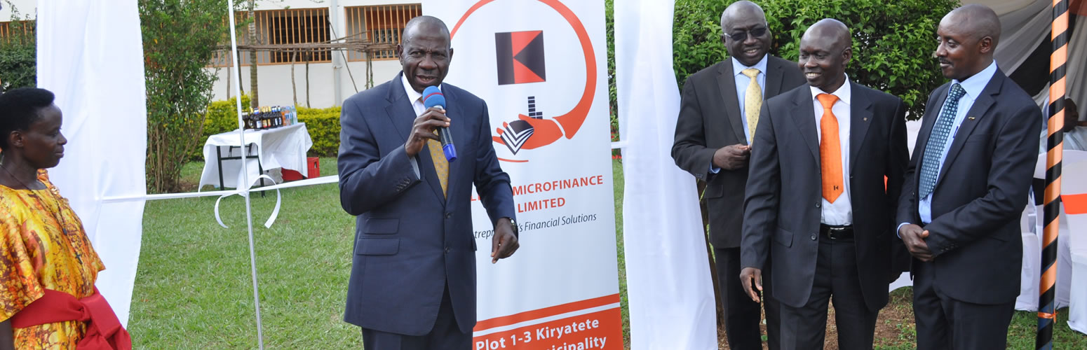 Minister of Finance officiating at the rebranding ceremony of KMF Uganda Ltd
